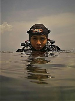 "Jackie was an active swimmer ever since she was a young child but it was only in 2012 that she could no longer resist the pull of the underwater world. Always considered a natural athlete by her coaches, she would excel at any sport she would do. Scuba diving, of course, was no exception. Spending most of her weekends (sometimes even weekdays) in Anilao inevitably led to a consequent growth of passion. She quickly gained hours of dive time and a wealth of experience diving with many of the local dive masters around the area. As she was working her way up the recreational diving ladder and many fated conversations in between with technical divers, she learned about the rigors and demands of technical and cave diving and an ultimate pursuit was born. Now thirsting for another level of knowledge and always one to pursue her goals, Jackie realised the need to take different courses in line with them.She methodically sought training from top instructors around the Philippines, understanding the need for the highest quality of education in every step and building experience in between with total commitment and old-fashioned hard work. In 2016, she finally joined Unified Team Diving and is actively pursuing higher levels of technical diving. Her work in Pawod with Bernil, Jaime and Juan was calm, independent and collected. Things you'd expect of a seasoned cave diver.Jackie currently resides in Manila, but is frequently in and around the Philippines.On being part of the Filipino Cave Divers. ""Didn't expect it. Many emotions. It's difficult enough to prove yourself as a girl in a male dominated industry and to be part of FCD, is humbling validation. I'd say I'm more than deeply honoured to be part of Filipino Cave Divers, the hard work has paid off and another level of learning from everyone in FCD is something I look forward to. This is definitely one of the highlights of my life and dive career."""